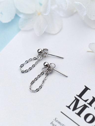 Temperament Geometric Shaped S925 Silver Stud Earrings