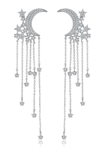 Copper With Cubic Zirconia Romantic Charm Chandelier Earrings