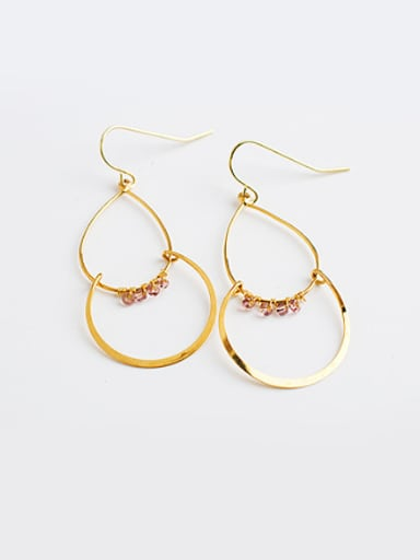 Personality Gourd Shaped Natural Stone Earrings