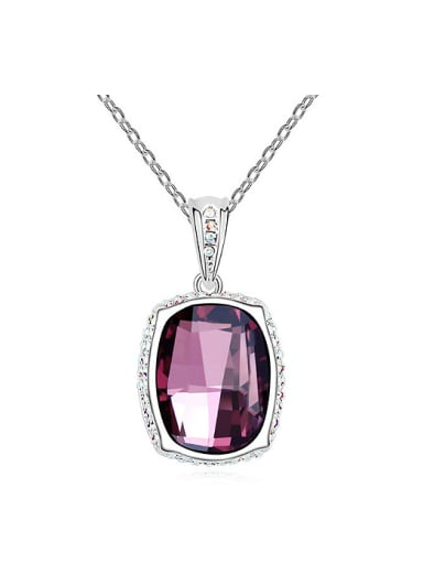 Simple Swarovski Crystal Alloy Necklace
