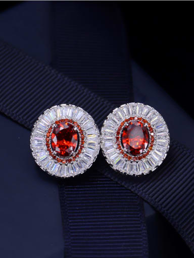 High Quality Zircon Stud Cluster earring