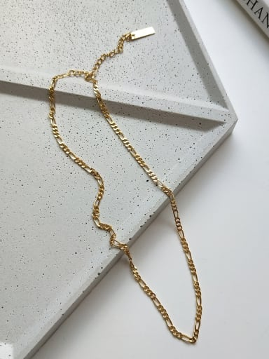 Pure silver irregular gold necklace