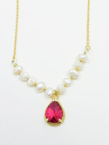 High-grade Water Drop Shaped Freshwater Pearl Necklace