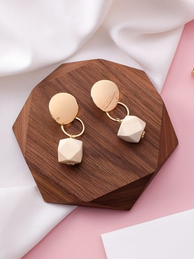 Alloy With 18k Gold Plated Trendy Geometric Earrings