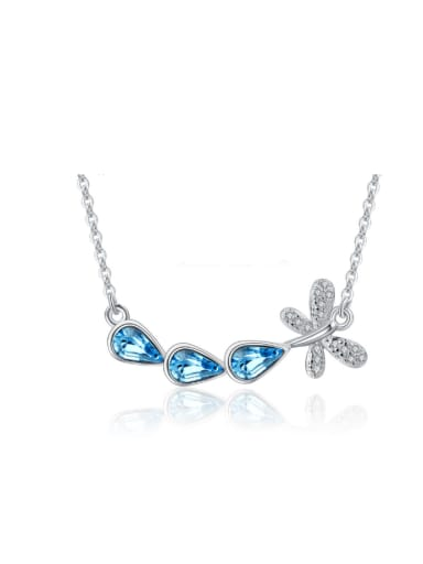 Dragonfly Micro Pave Austria Crystal Necklace