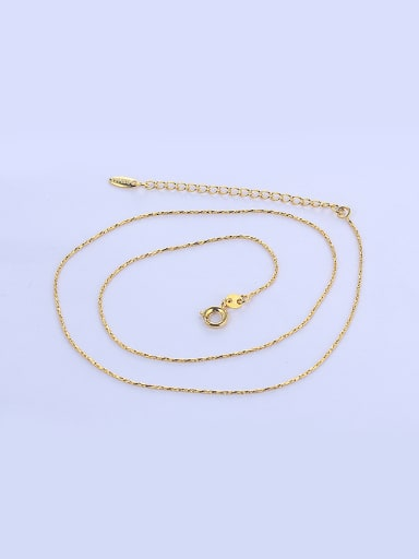 Copper Alloy 24K Gold Plated Simple style Single Chain Necklace