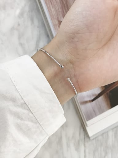 Sterling Silver simple geometric Bracelet