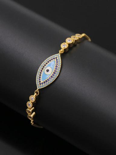 Eye Shaped Copper Bracelet