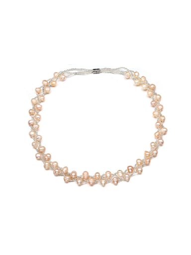 Elegant Multi Layer Freshwater Pearl Necklace