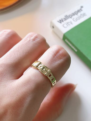 925 Sterling Silver With Gold Plated Simplistic Smooth Geometric Free Size Rings
