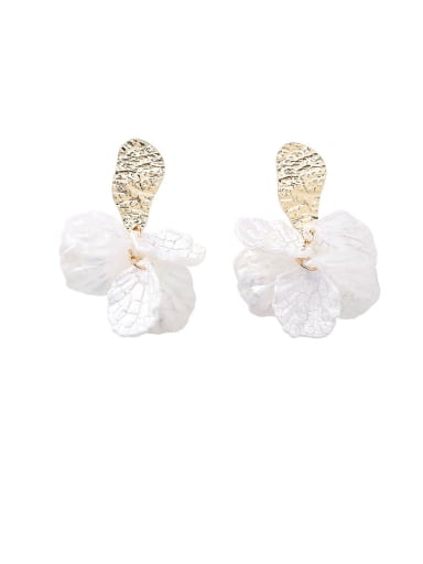 Alloy With Imitation Gold Plated Simplistic Colorful sequins Leaf Drop Earrings