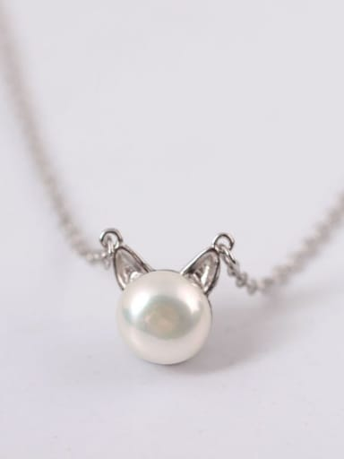 Exquisite S925 Silver Lovely Cat Clavicle Necklace