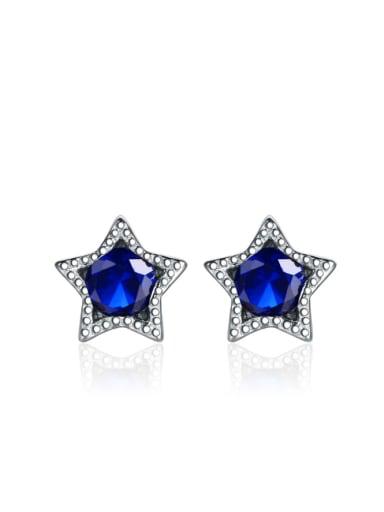 Color Star Zircon Simple Stud Earrings