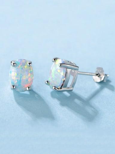 S925 Silver Opal Stone stud Earring