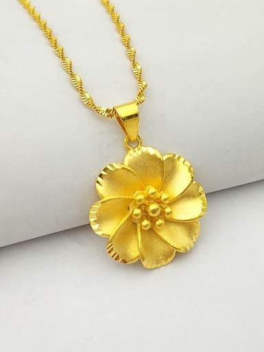 Women Fashion Flower Shaped Necklace