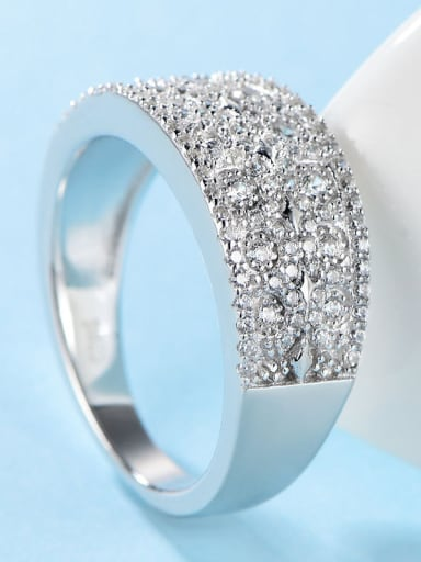 White Gold Plated Zircon Ring