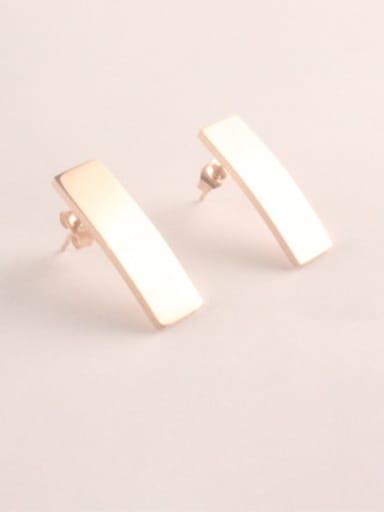 Simple Matt Rectangle Stud Earrings