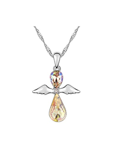 Fashion Water Drop Swarovski Crystals Angel Pendant Alloy Necklace
