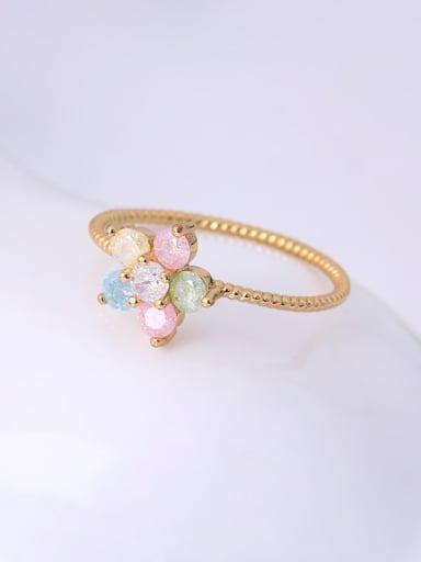 Women Exquisite Colorful Zircon Ring