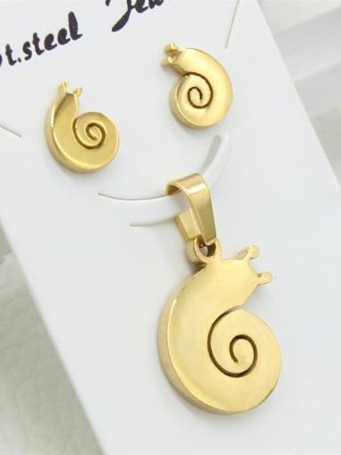 Stainless Steel Golden Snail Set
