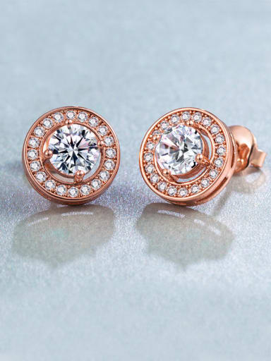Rose Gold Plated Zircon stud Earring