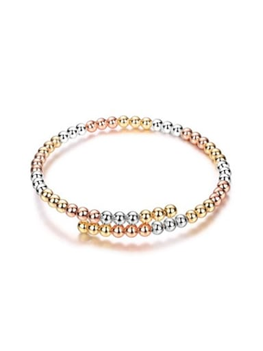 Fashion Three Color Design Beads Bangle