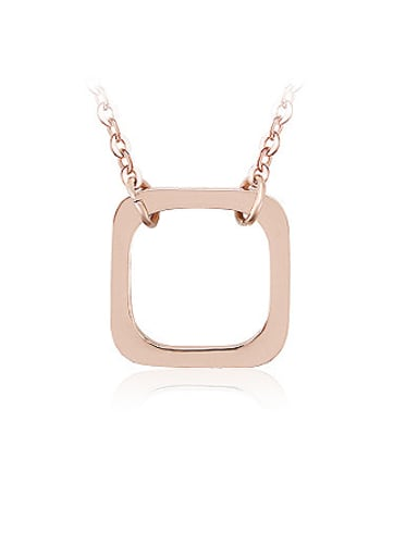 18K Rose Gold Titanium Stainless Steel  Necklace