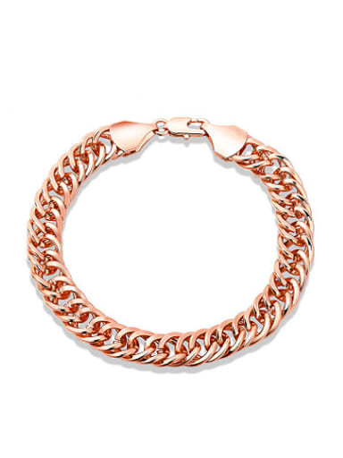 Rose Gold Plated Geometric Shaped Bracelet