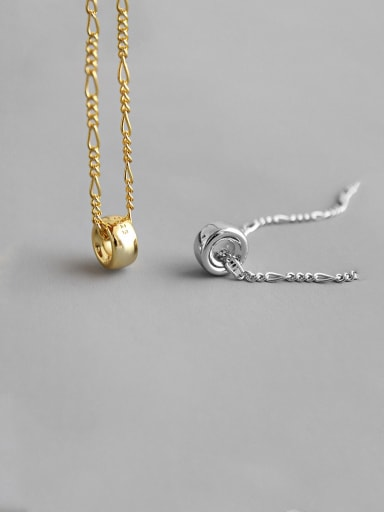 925 Sterling Silver With Smooth Simplistic Round Necklaces