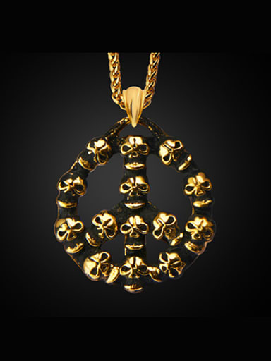 Exaggerated Skulls Necklace