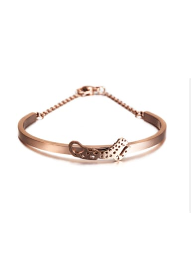 Fashion Women Rose Gold Titanium Steel Bracelet