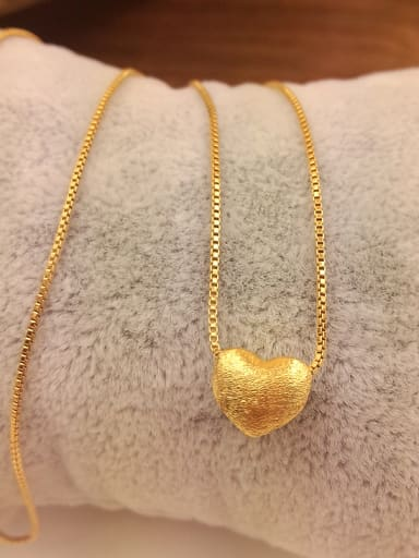 Elegant Gold Plated Heart Shaped Necklace