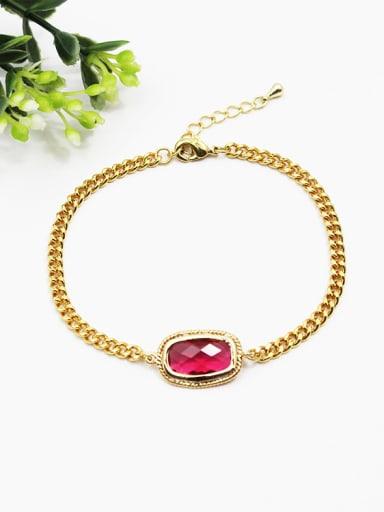 Delicate Red Natural Stone Women Bracelet