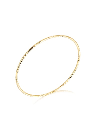Simple Gold Plated Round Women Bangle