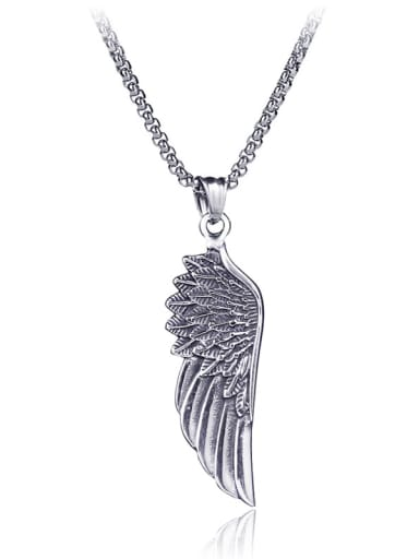 Stainless Steel With Gun Plated Trendy Angel Necklaces