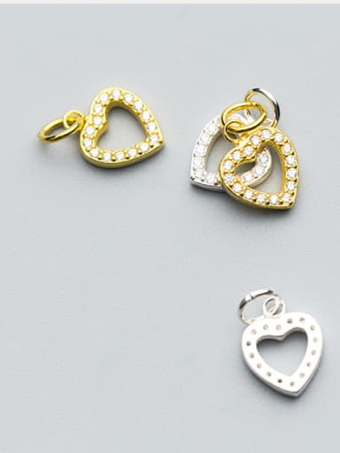 925 Sterling Silver With 18k Gold Plated Classic Heart Charms