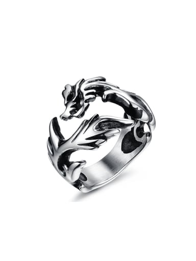 Punk style Personalized Dragon Men Ring