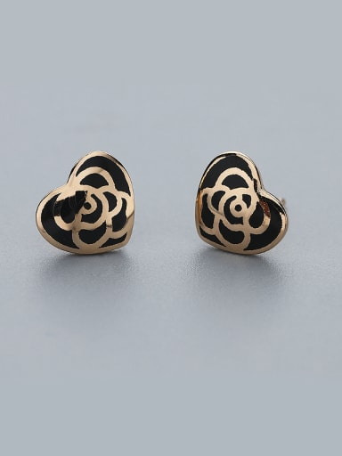 Retro Style Heart Shaped Earrings