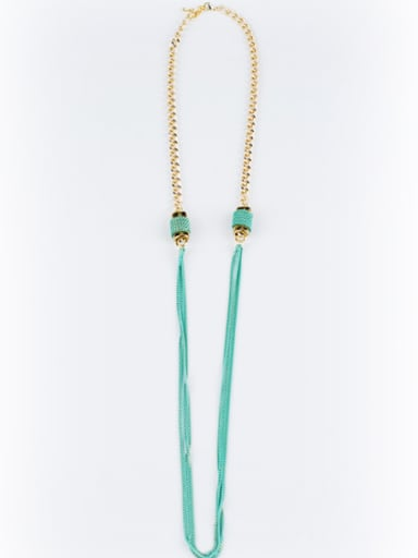 All-match 16K Gold Plated Sweater Necklace
