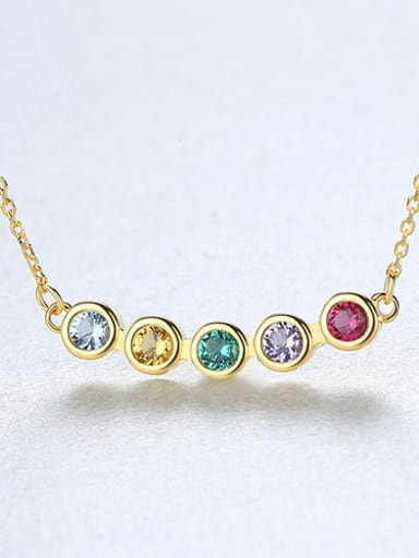 Sterling silver inlaid  semi-precious stones necklace