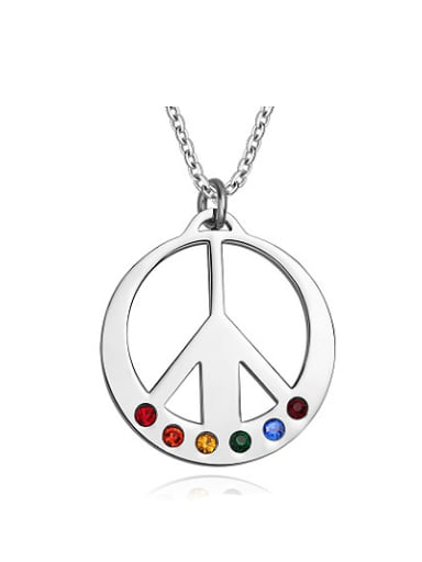 Creative Multi-color Design Plane Shaped Rhinestone Pendant