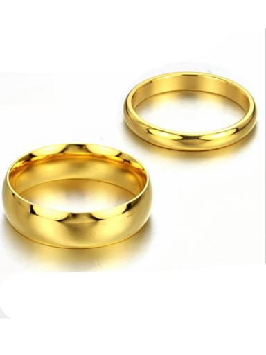 Stainless Steel With Gold Plated Luxury Round Rings