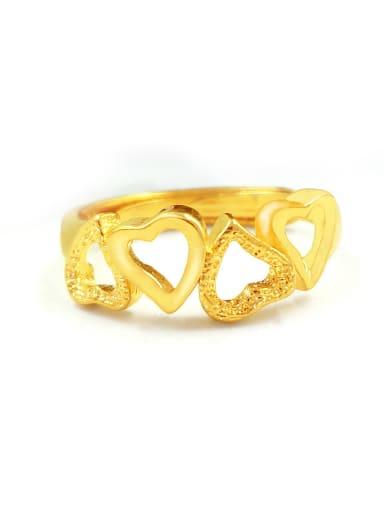Women Delicate Hollow Heart Ring