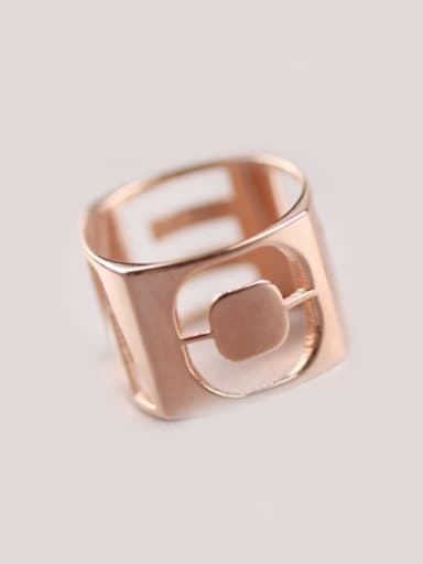 Exaggerated Hollow Letter Fashion Ring