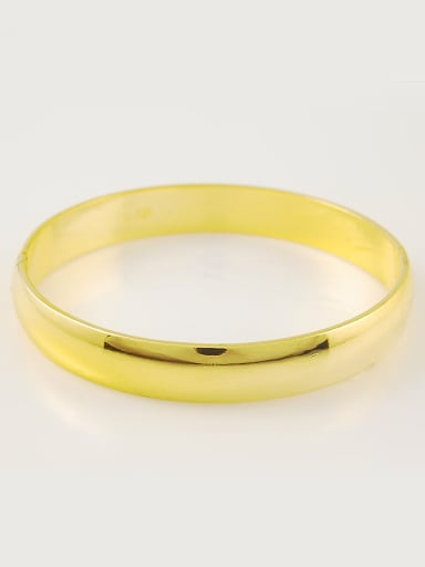 Fashion Style 24K Gold Plated Geometric Shaped Copper Bangle