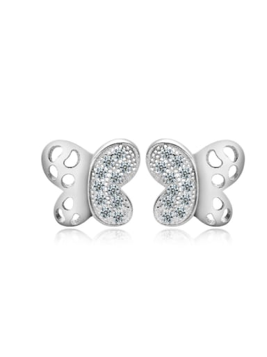 Butterfly-shape Valentine' day Gift Stud Earrings