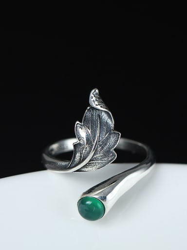 Classical Feather-shape Opening Statement Ring