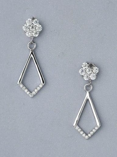 Delicate Flower Shaped Zircon Earrings