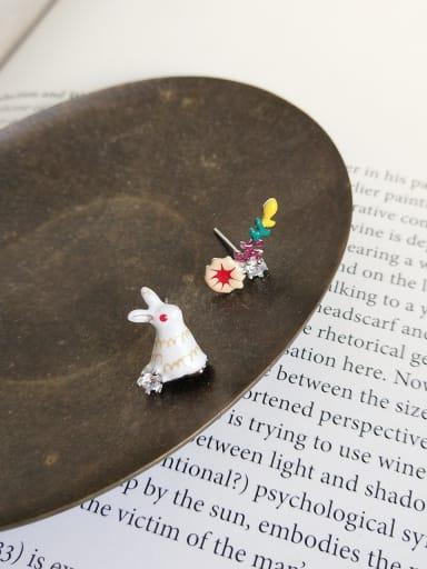 Sterling silver dreamland rabbi flower earring