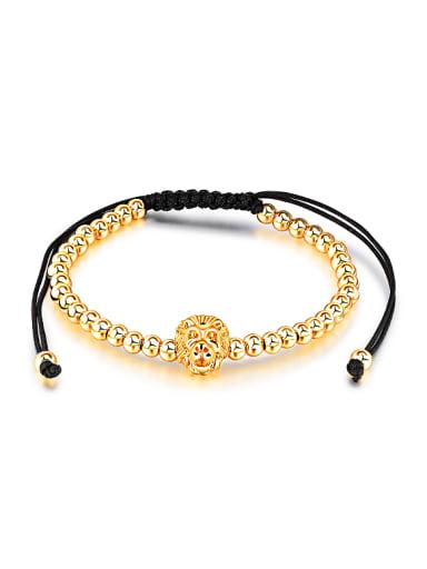 Fashion Lion Head Beads Adjustable Bracelet
